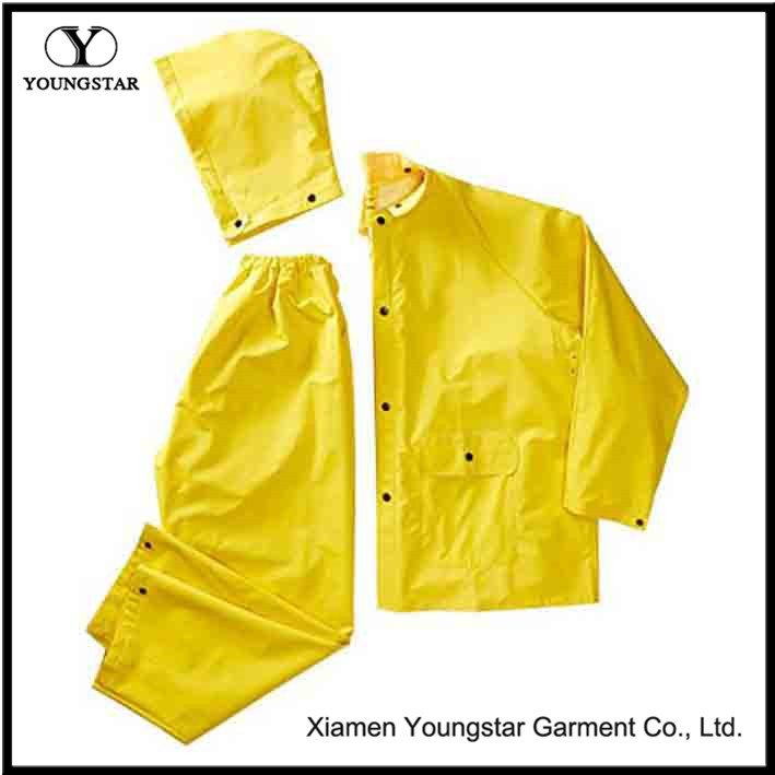 Yellow Rain Suit And Hat