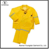 Mens Two Piece Yellow Rain Suit with Reflective